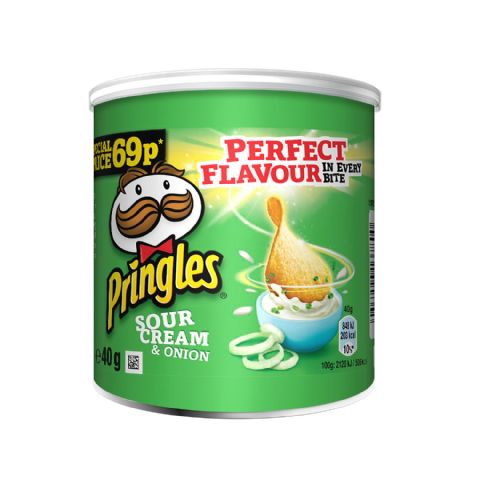 Sour Cream & Onion Pringles Pop & Go Mini Snacks 40g